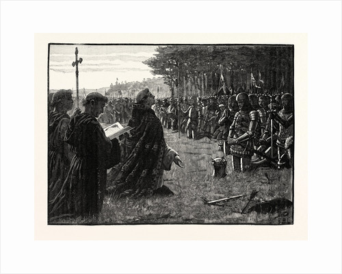 The Thanksgiving Service on the Field of Agincourt by Anonymous