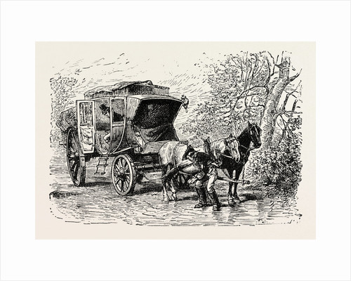 Travelling Coach Seventeenth Century. by Anonymous