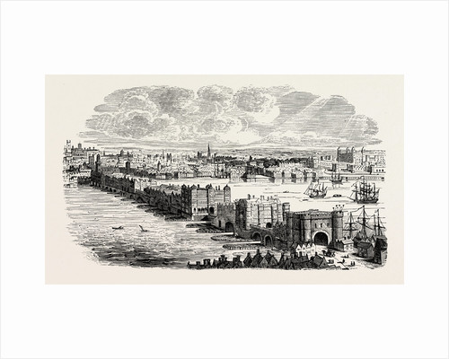 Old London Bridge in the Sixteenth Century by Anonymous