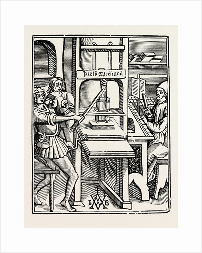 Early Printing Press. by Anonymous