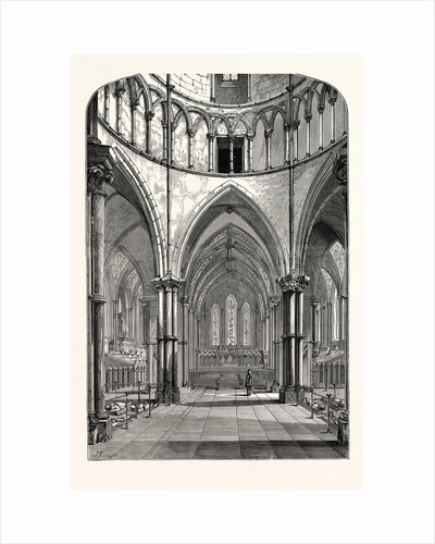 Interior of the Temple Church 1870 London by Anonymous