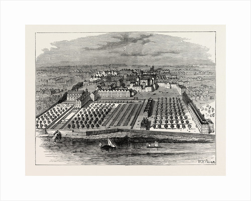 The Temple in 1671. From an Old Bird's-Eye View in the Inner Temple London by Anonymous