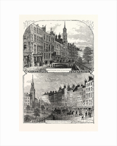 St. Paul's Churchyard in 1820: from Chapter Court to Cheapside from Paul's Chain to Watling Street by Anonymous
