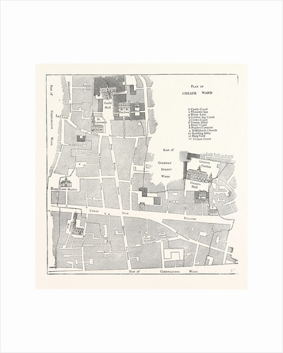 Old Map of the Ward of Cheap About 1750 London by Anonymous
