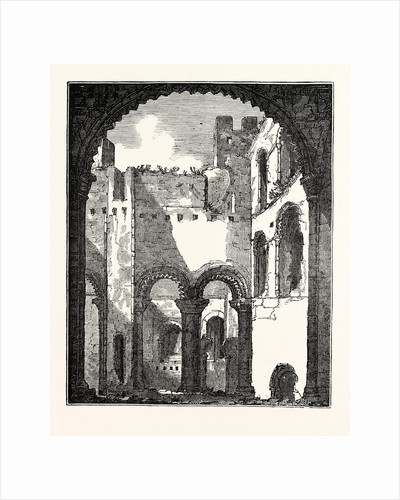Interior of the Remains of the Upper Story of Rochester Castle by Anonymous