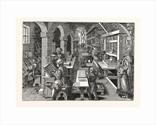 Ancient View of a Dutch Printing-Office by Anonymous