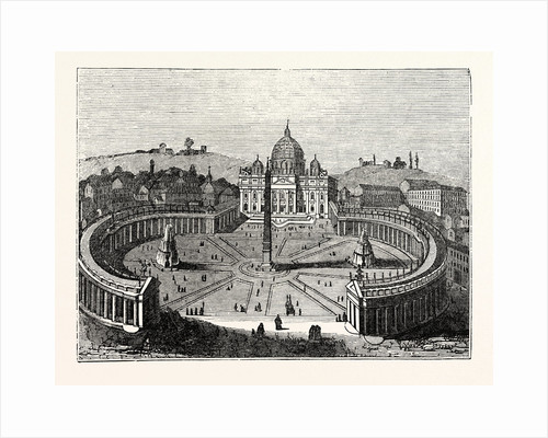 Bird's-Eye View of St. Peter's Rome by Anonymous