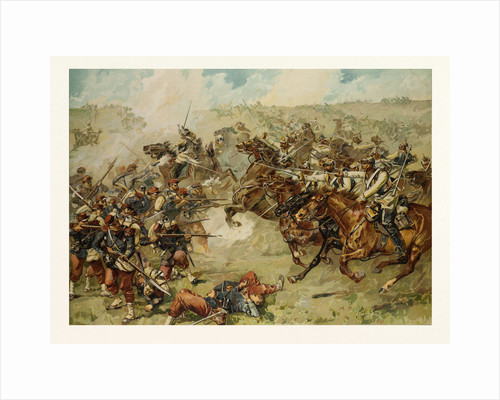 Cuirassier Attack (Bredow'sche Cavalry Brigade) Near Vionville-Mars-La-Tour, on the 6th of August 1870 by Anonymous
