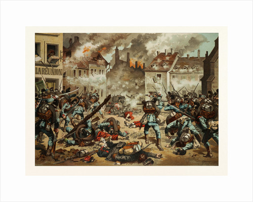 Street Fight in Bazeilles on the First of September, 1870 by Anonymous
