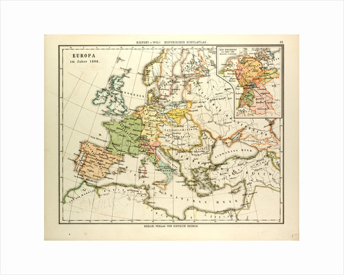 Map of Europe in 1808 by Anonymous