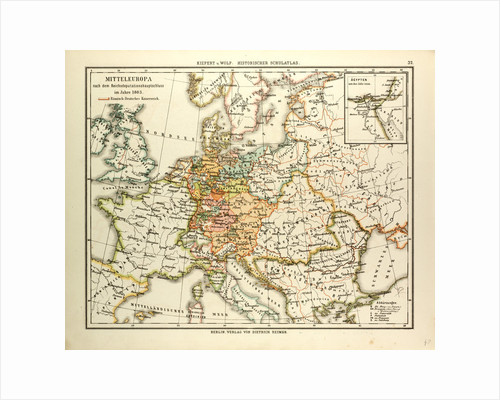 Map of Central Europe in 1803 by Anonymous