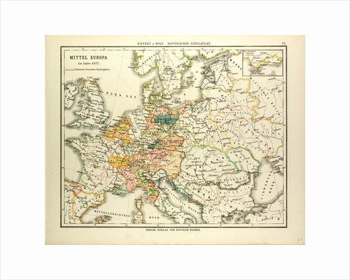 Map of Central Europe in 1477 by Anonymous