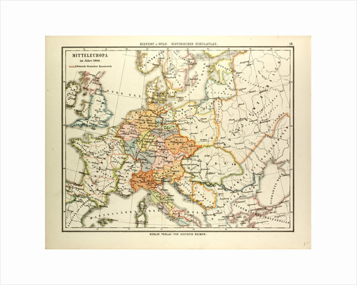 Map of Central Europe in 1000 A.D. by Anonymous