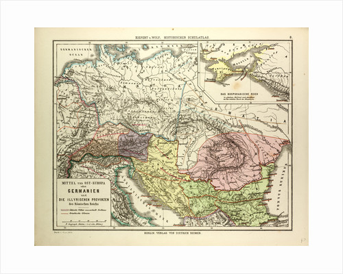 Map of Central and Eastern Europe During the Roman Empire by Anonymous
