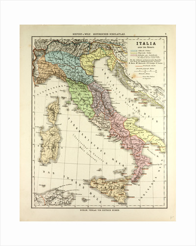 Map of Italy During the Roman Empire by Anonymous