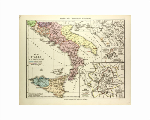 Map of Southern Italy Before the Roman Empire by Anonymous