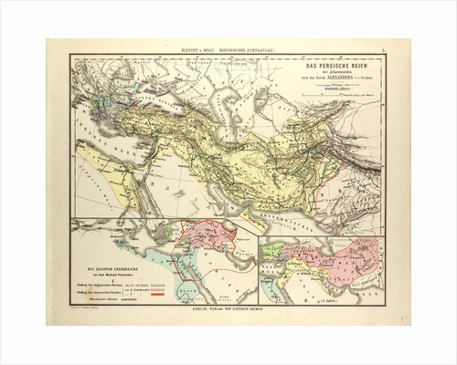 Map of the Persian Empire and the Empire of Alexander the Great by Anonymous
