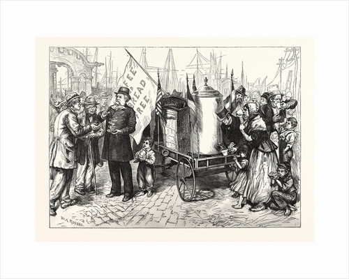 Dr. Kennion's Street Coffee-Urn Cart-a Good Temperance Movement. Drawn W.A. Rogers by Anonymous