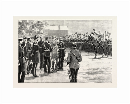Three Cheers for the Emperor! the German Emperor Reviewing the Royal Artillery at Eastney Barracks, Portsmouth, UK by Anonymous