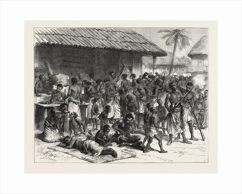 The Ashanti War: Ashantees Buying Muskets with Gold Dust at Assinee, Ghana by Anonymous