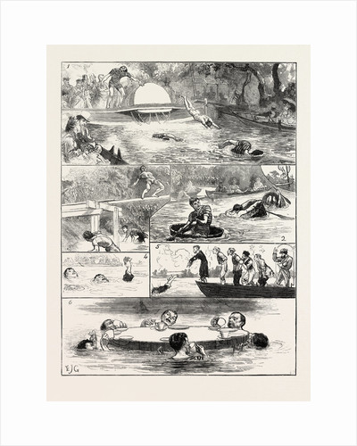 The London Swimming Club Contest at the Crystal Palace by Anonymous