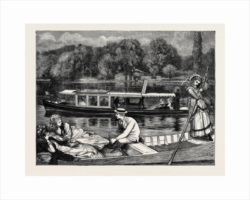 Steaming and Punting, a Sketch Near Cliveden Woods by Anonymous