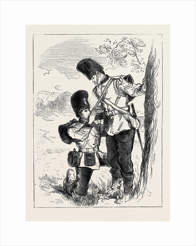 The Autumn Manoeuvres: A Friend in Need, a Sketch on the March to Bottle Bush Down by Anonymous