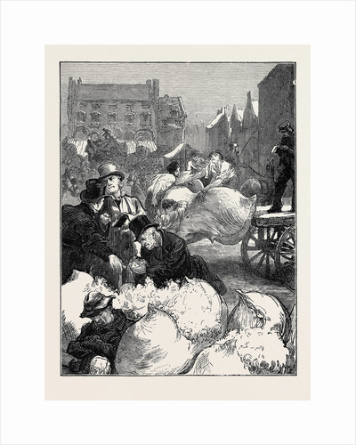 Sketches at a Northampton Wool Fair: Buying and Selling by Anonymous
