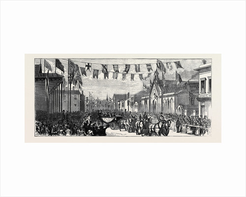 The Duke and Duchess of Teck at Southport: Arrival of the Duke and Duchess at the Railway Station by Anonymous