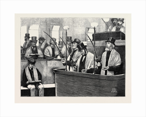 The Feast of Tabernacles at the North London Synagogue: The Reader Taking the Palm Branch by Anonymous