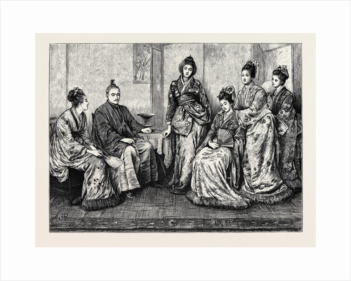 His Excellency Iwakura, the Japanese Ambassador, and the Ladies of the Japanese Embassy by Anonymous