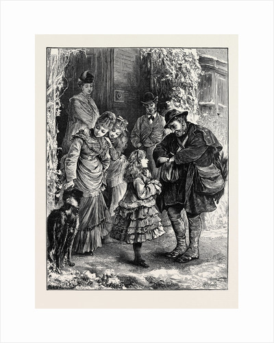 Christmas in the Country: Arrival of the Postman by Anonymous