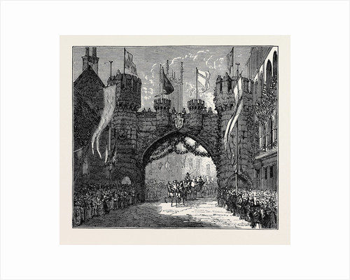 The Prince and Princess of Wales at Chatsworth and Derby: Triumphal Arch at Derby by Anonymous