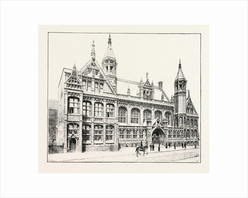 The New Law Courts at Birmingham, Opened by T.R.H. The Prince and Princess of Wales: The Exterior of the New Law Courts by Anonymous