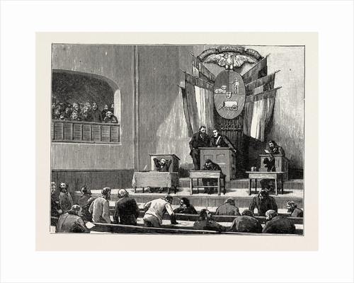 Lord Randolph Churchill in South Africa: The Interior of the House of Commons, Pretoria by Anonymous