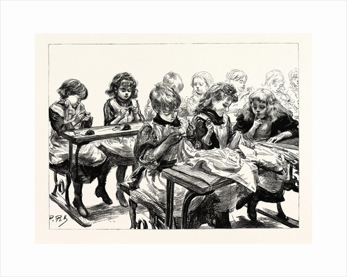 The Free Education Act, the Sewing Class of Elder Girls by Anonymous