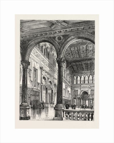 Lord Salisbury's Visit to Birmingham, Hewell Grange, the Seat of Lord Windsor, Where the Prime Minister is Staying: The Great Hall by Anonymous