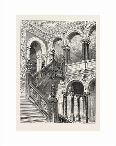 Lord Salisbury's Visit to Birmingham, Hewell Grange, the Seat of Lord Windsor, Where the Prime Minister is Staying: The Great Staircase by Anonymous