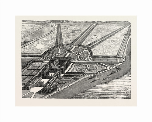 Bird's-Eye View of Hampton Court As Finished by William III by Anonymous