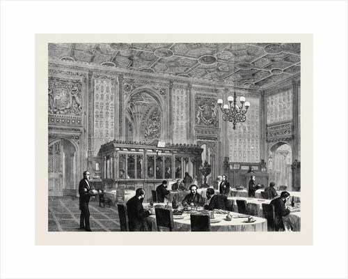 The Refreshment Room at the House of Commons, London, 1872 by Anonymous