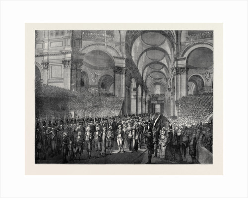 April 23, 1789: King George III. Visiting St. Paul's after His Recovery by Anonymous