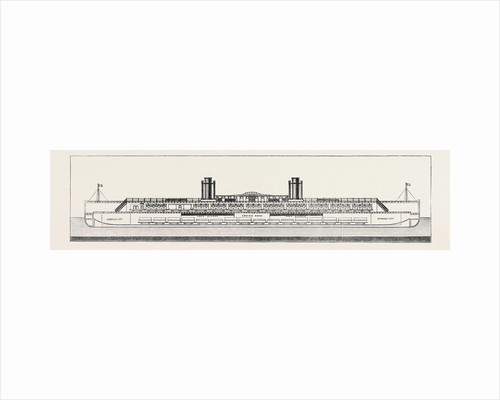 The Proposed Channel Ferry: Longitudinal Section of Ferry Steamer by Anonymous