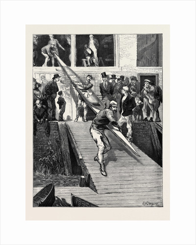 The International Boat Race: The American Crew at Biffen's Yard by Anonymous