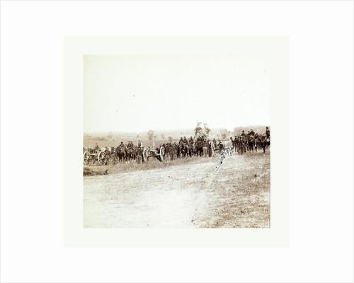 American Civil War: Captain J. M. Knap's Pennsylvania Independent Battery E Light Artillery Approaching the Battlefield at Antietam by Anonymous