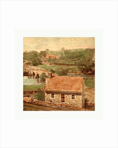 American Civil War: Bridge on the Boonsboro Pike, Antietam, Md., a Stone House on the Eastern Side of Antietam Bridge by Anonymous
