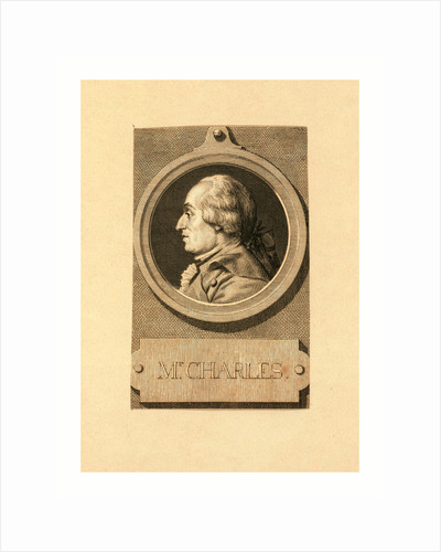 Mr. Charles, Head-and-Shoulders Profile Portrait of French Balloonist J.A.C. Charles by Anonymous