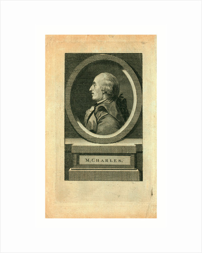 M. Charles, Head-and-Shoulders Profile Portrait of French Balloonist J.A.C. Charles by Anonymous