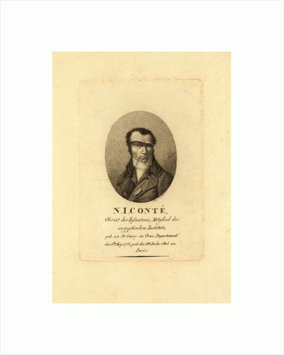 Head-and-Shoulders Portrait of Nicolas Conte by Anonymous