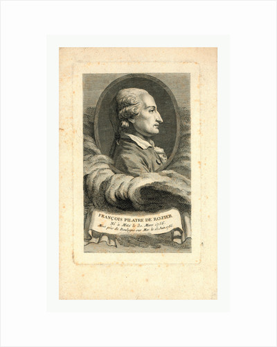 Oval Head-and-Shoulders Profile Portrait of French Balloonist Jean-François Pilâtre De Rozier. by Anonymous