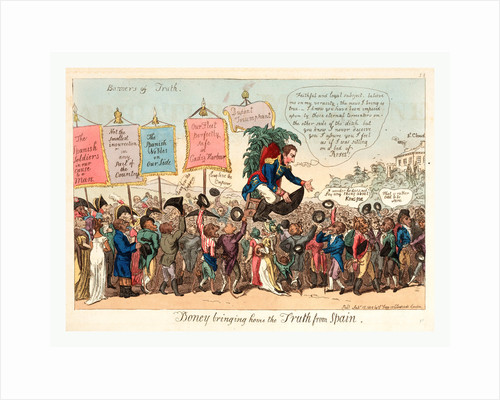 Boney Bringing Home the Truth from Spain, London, 1808 by Anonymous
